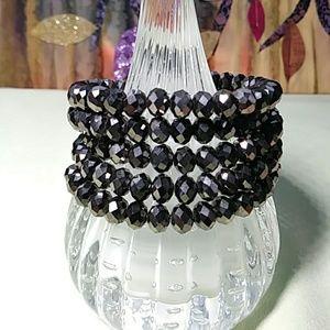Jewelry - Swarovski Crystal Bead Wire Wrap Boho Bracelet